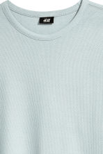 Cotton piqué T-shirt - Light grey blue - Men | H&M 3