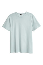 Cotton piqué T-shirt - Light grey blue - Men | H&M 2