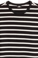 棉質網眼布T恤 - Black/White/Striped - Men | H&M 3