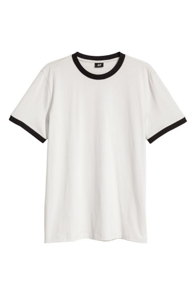 Cotton jersey T-shirt - Light grey - Men | H&M