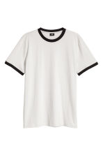 Cotton jersey T-shirt - Light grey -  | H&M 1