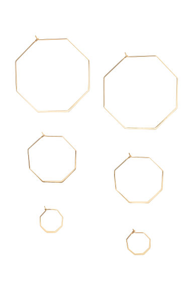 3-pack hoop earrings - Gold - Ladies | H&M