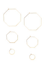 3-pack hoop earrings - Gold - Ladies | H&M 1