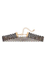 Choker with sparkly stones - Black - Ladies | H&M CN 1