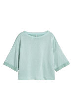 Short-sleeved sweatshirt - Mint green - Ladies | H&M CN 2