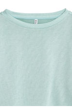 Short-sleeved sweatshirt - Mint green - Ladies | H&M CN 3