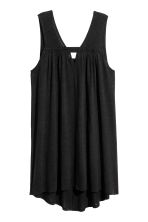 Sleeveless linen-blend dress - Black - Ladies | H&M 2