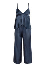 Jumpsuit with a flounce - Dark blue - Ladies | H&M 2