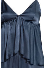 Jumpsuit with a flounce - Dark blue - Ladies | H&M 3