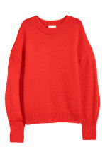 Knitted jumper - Red - Ladies | H&M CN 2