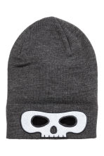 Fine-knit hat - Dark grey/Skull - Kids | H&M 2