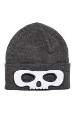 Fine-knit hat - Dark grey/Skull - Kids | H&M 1