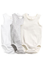 3-pack pima cotton bodysuits - White - Kids | H&M 2