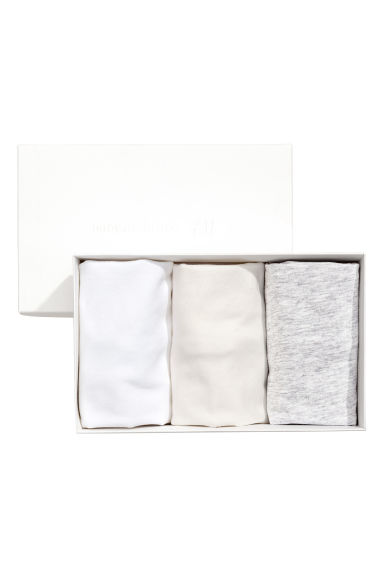 3-pack pima cotton bodysuits - White -  | H&M CA