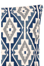 Patterned cushion cover - Dark blue/Natural white - Home All | H&M CN 3