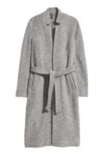 Wool-blend coat - Grey marl - Ladies | H&M IE 2