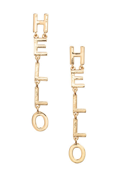 Long earrings - Gold - Ladies | H&M 1