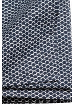 Patterned cotton tablecloth - Dark blue/White patterned - Home All | H&M CN 3
