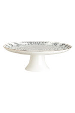 Porcelain cake stand - White/Blue patterned - Home All | H&M GB 2