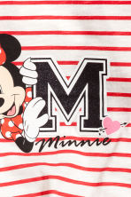 Long-sleeved Tie-hem Top - Red/Minnie Mouse - Kids | H&M CA 3