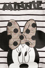 Printed jersey top - Light grey/Minnie Mouse - Kids | H&M CN 2