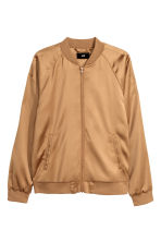 Satin bomber jacket - Camel - Men | H&M 2