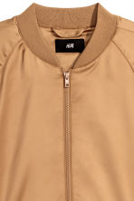 Satin bomber jacket - Camel - Men | H&M 3
