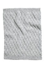 Textured-knit tube scarf - Grey -  | H&M CA 2