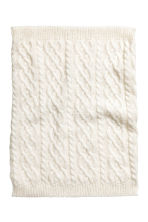 Textured-knit tube scarf - Natural white - Kids | H&M CN 2