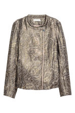 Jacquard-weave jacket - Gold/Patterned - Ladies | H&M 2