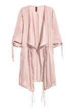 Satin parka - Powder pink - Ladies | H&M CN 2