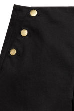 Button-detail shorts - Black - Ladies | H&M 3