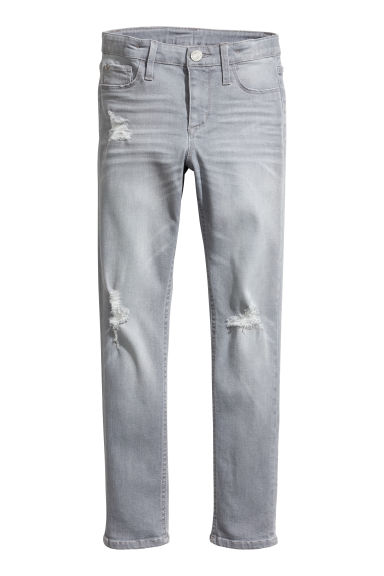 Skinny fit Jeans - Denim gris -  | H&M BE
