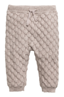 Textured-knit cotton trousers