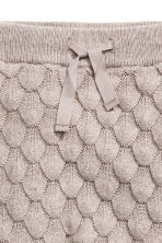 Textured-knit cotton trousers - Light mole - Kids | H&M CN 2