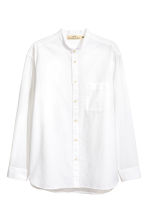 Grandad shirt Relaxed fit - White - Men | H&M CA 2