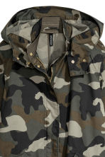 Patterned cotton parka - Khaki green -  | H&M 4