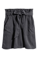 Skirt with Tie Belt - Dark grey - Ladies | H&M CA 2