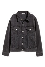 Denim jacket - Black denim - Ladies | H&M 2
