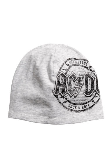 Printed jersey hat - Grey AC/DC -  | H&M CA 1