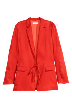 Linen-blend jacket - Red - Ladies | H&M 2