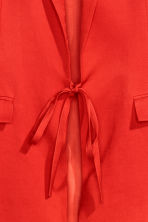 Linen-blend jacket - Red - Ladies | H&M 3