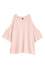 Cold shoulder top - Powder pink - Ladies | H&M 2