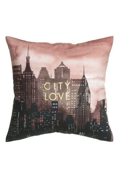 Cushion cover with a motif - Pink/Black - Home All | H&M CN 1