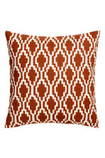 Patterned cushion cover - Dark orange/White - Home All | H&M GB 1