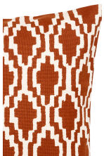 Patterned cushion cover - Dark orange/White - Home All | H&M GB 2