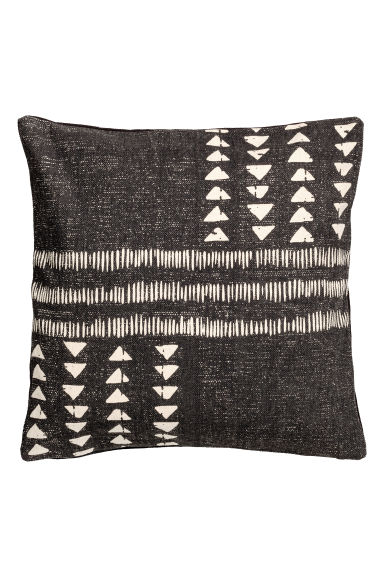 Printed cushion cover - Dark grey/White - Home All | H&M GB