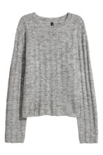 Ribbed jumper - Light grey marl -  | H&M CN 2