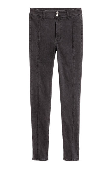 Pantalon stretch - Noir washed out -  | H&M BE
