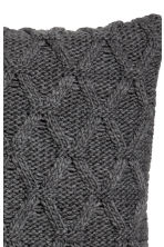 Cable-knit cushion cover - Dark grey - Home All | H&M CN 4
